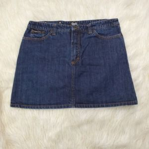 Docle & Gabbana A-Line Mini Jean Skirt